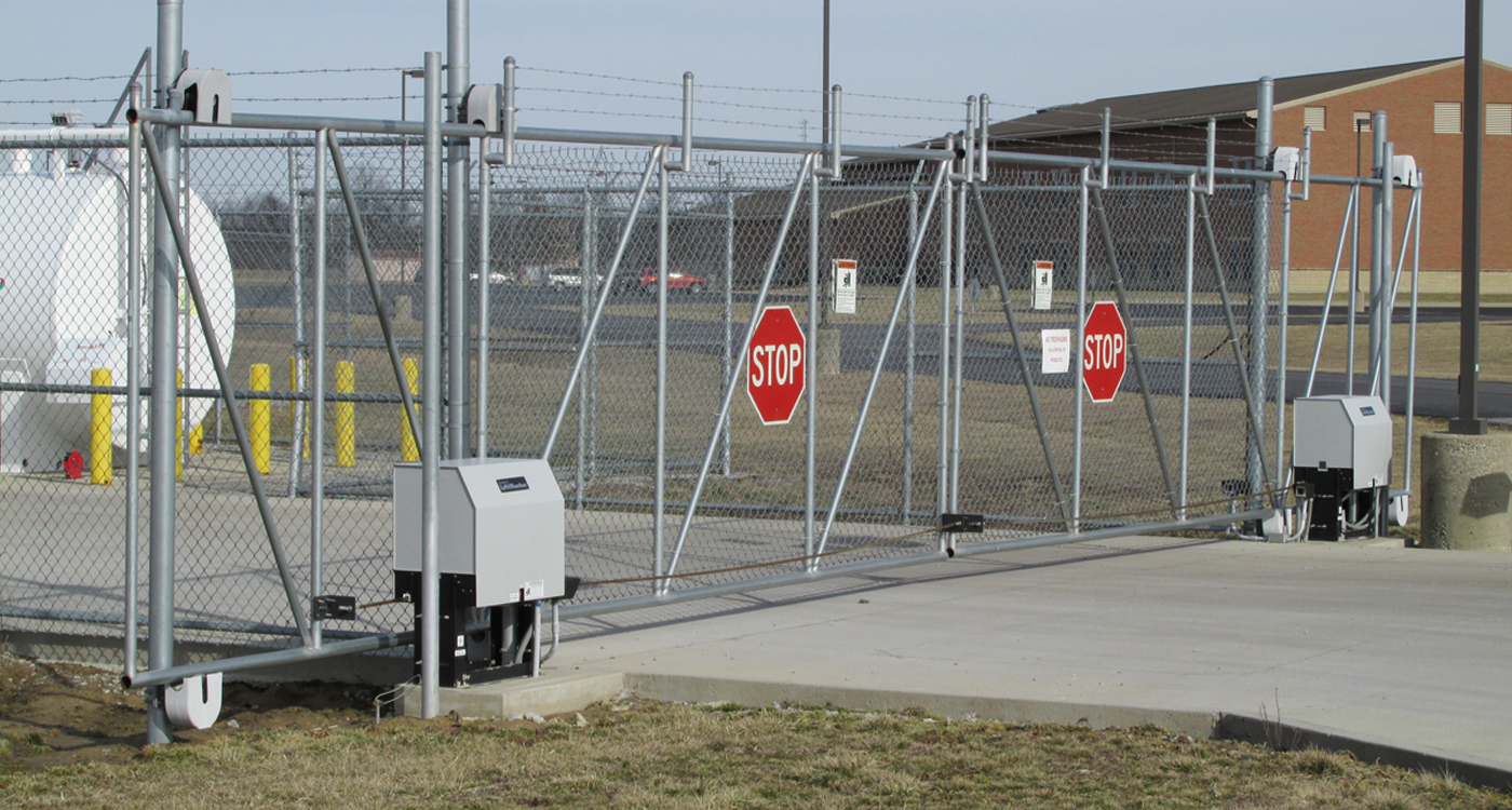 image of a gate operator system installed by Colonial Post and Fence
