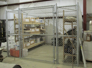 image of a security cage installation by Colonial Post and Fence