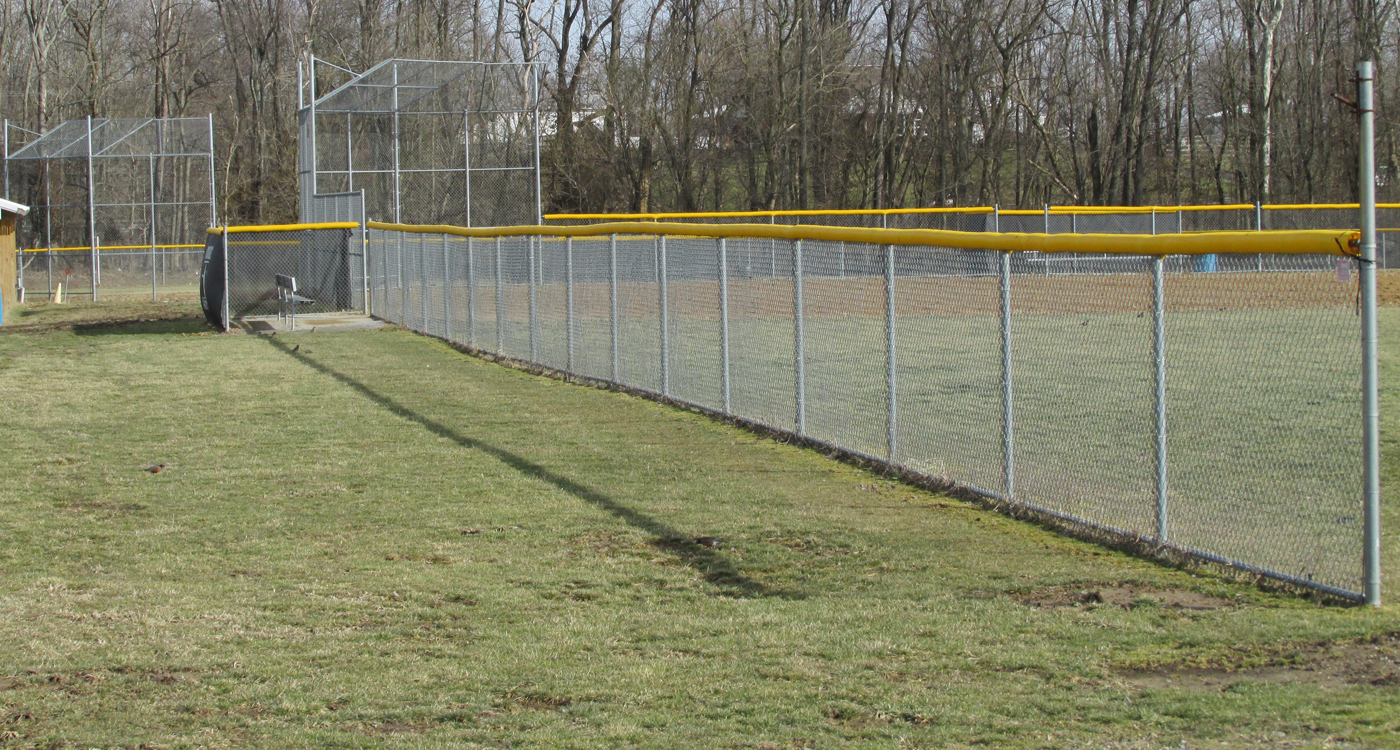 image of baseball fencing installed by Colonial Post and Fence