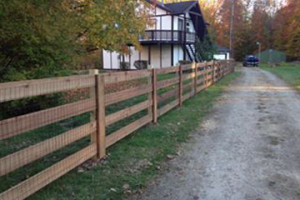 Residential Fence installation by Colonial Post and Fence