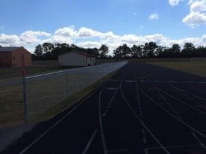 Peebles HS track fence