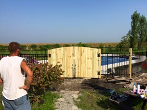 pool fencing and gate