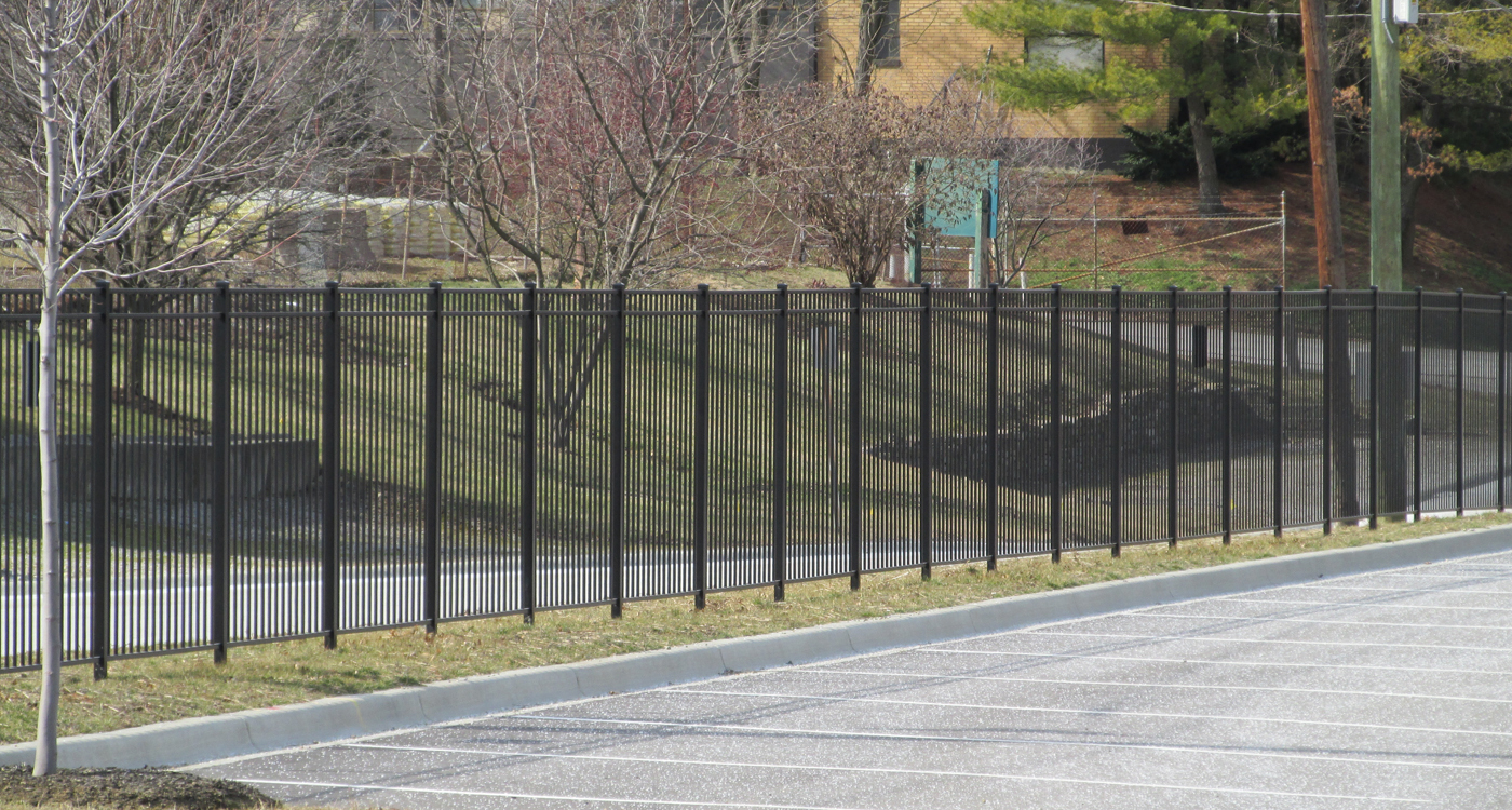 image of commercial fencing installed by Colonial Post and Fence
