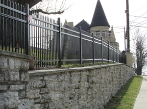 image of a residential fence installation by Colonial Post and Fence