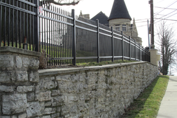Commercial Fence installation by Colonial Post and Fence