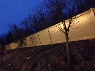 Vinyl Fence installation for Kroger