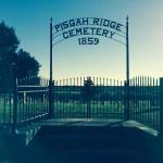 Ornamental fence at Pisgah Ridge Cemetery