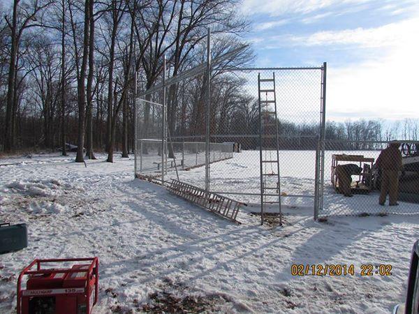 replacing backstops at Georgetown Baseball Fields